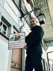Gemeindepräsident Alois Huber freut sich über die Auszeichnung. (Bild: PD/Gemeinde Luthern)