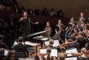 Dirigent Matthias Pintscher leitete das Orchester der Lucerne Festival Academy. (Bild: Patrick Hürlimann/Lucerne Festival)