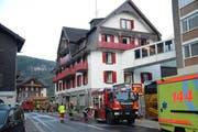 Im Hotel Löwen in Lungern hat es am Mittwochmorgen gebrannt. (Bild: Kantonspolizei Obwalden)