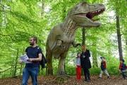 So wie hier an der Dino-Ausstellung 2013 in Emmen wird es bald auch in Hünenberg aussehen. (Bild Eveline Beerkircher)