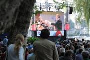 Openair-Übertragung eines Konzerts des Lucerne Festival Orchestra beim Luzerner Inseli (Archivbild). (Bild: Maria Schmid (Luzern, 20. August 2010))