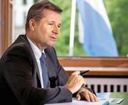 Als neuer Regierungspräsident will sich der parteilose Luzerner Finanzdirektor Marcel Schwerzmann (51) für einen innovativen Kanton Luzern einsetzen. (Bild: Nadia Schärli)