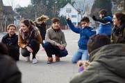 Pfasyl organisiert jeden zweiten Sonntag Anlässe für Kinder von Asylsuchenden im Durchgangszentrum Hirschpark in Luzern. (Bild: Sara Furrer)