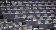 Es gibt britische Sitze zu vergeben: Blick auf den EU-Parlamentssaal in Strassburg. (Bild: Christopher Furlong/Getty (Strassburg, 12. Mai 2016))