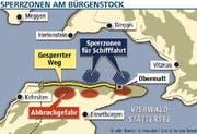 Die Sperrzonen am Bürgenstock. (Grafik Janina Noser/Neue LZ)