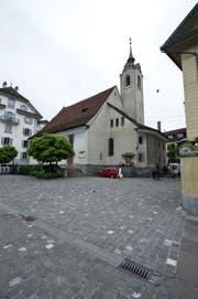 Die Peterskapelle in Luzern wird saniert. (Bild: Dominik Wunderli (09.06.2015, Luzern))