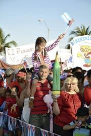 1.-Mai-Feier in Cienfuegos – zwischen Chilbi und Propaganda. (Bild: Thomas Bornhauser)