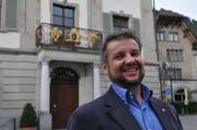Der 43-jährige Dimitri Moretti will im Frühling 2016 für die SP Uri in den Regierungsrat einziehen. Die SP Uri hat ihn als offiziellen Kandidaten nominiert. (Bild: Anian Heierli / Neue UZ)