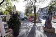 Der Zuger Kirschtortenplatz (Bild) wird womöglich nie so heissen. (Bild Werner Schelbert)