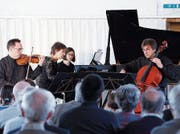 Beim Konzert des Ensembles Chamäleon in der Gewürzmühle lag der Fokus auf russischer Musik. (Bild: Werner Schelbert (Zug, 12. März 2017))