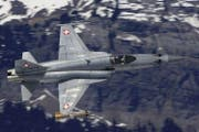 Ein Kampfjet des Typs Northrop F-5 Tiger. (Bild: Schweizer Luftwaffe)