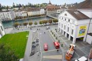 Blick auf den Theaterplatz. Bild: Philipp Schmidli