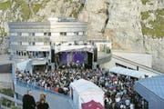 Dada Ante Portas bei ihrem Auftritt am «Pilatus On The Rocks». (Bild: Corinne Glanzmann (Pilatus, 26. August 2017))