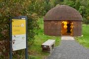 Ausstellung zur Honigbiene im Bienenkorb. (Bild: Tierpark Goldau)