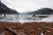 Die zentralschweiz muss mit heftigen Winden rechnen. Im Bild stürmische Verhältnisse in Brunnen - hier während eines Föhnsturms am Urnersee. (Bild: Alexandra Wey, Brunnen 07.02.2016)