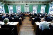 Der Zuger Kantonsrat an einer Sitzung. (Bild: Stefan Kaiseer / Neue ZZ)