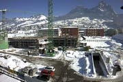 Die Bauarbeiter haben momentan Winterpause. (Bild: Webcam Gemeinde Schwyz)