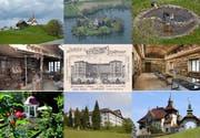 Eine kleine Auswahl der Denkmäler, welche im Kanton Luzern besichtigt werden können. (Bild: pd/Kantonale Denkmalpflege Luzern)