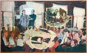 Demontierte Sowjet-Propaganda: Ölgemälde aus der Serie «The Collage of Spaces» des russischen Künstlers Ilya Kabakov. (Bild: PD)