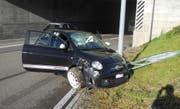 Die Unfallstelle bei der Autobahnausfahrt Lachen. (Bild: Kantonspolizei Schwyz (Lachen, 27. November 2017))