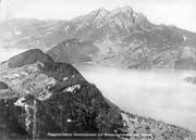 Flugaufnahme von Otto Wyrsch: Hammetschwand mit Bürgenstockhotels und Pilatus. (Bild: pd / Oto Wyrsch)