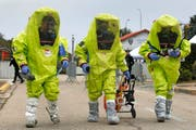 Auch auf eine Attacke mit Chemiewaffen sind die französischen Behörden vorbereitet. (Bild: Keystone/Guillaume Horcajuelo)