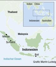 Eine Karte von Indonesien. (Bild: Martin Ludwig)
