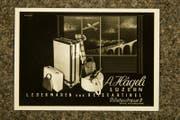 Eine Werbung des Lederwaren-Geschäfts Hägeli aus früheren Zeiten. (Bild: Manuela Jans-Koch/LZ)