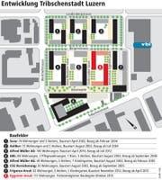 Die Entwicklung der Tribschenstadt in der Übersicht. (Bild: Grafik: Web)
