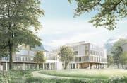 So soll das neue Kantonsspital Uri aussehen. Visualisierung: PD (Altdorf, Dezember 2016)
