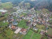 Ein Blick aus der Luft: Altwis ist eine von elf Gemeinden mit tieferen Steuern 2018. (Bild: Pius Amrein (24. Dezember 2017))