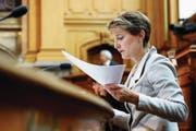 Tritt Doris Leuthard zurück, könnte Simonetta Sommaruga als einzige Frau im Bundesrat verbleiben. (Bild: Peter Klaunzer/Keystone (Bern, 29. Mai 2017))