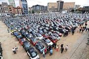 Smarts, so weit das Auge reicht, am letztjährigen Treffen im belgischen Antwerpen. (Bild: PD)
