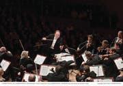 Riccardo Chailly dirigierte das Lucerne Festival Orchestra im Sinfoniekonzert 1 am vergangenen Lucerne Festival im Sommer. (Bild: Lucerne Festival/Peter Fischli (Luzern, 12. August 2017))