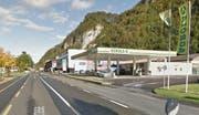 Hier auf der Stansstaderstrasse bei der Agrola-Tankstelle eskaliserte der Streit. (Bild: Google Street View)