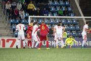 Ein Hauch von Hektik kam einzig nach dem überraschenden 1:2 von Alexandre Martinez in der 90. Minute auf. (Bild: Georgios Kefalas / Keystone)