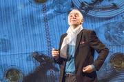 Mit ungebremstem Gestaltungswillen: Kabarettist Joachim Rittmeyer (64) im neuen Programm «Bleibsel». (Bild Hilde Eberhard)