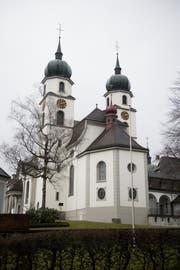Blick auf die beiden Türme der Pfarrkirche Eschenbach. (Bild: Corinne Glanzmann (16. Februar 2018))