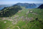 Luftbild aus dem Raum Nidwalden. (Bild: Photoramacolor AG)