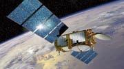 Satelliten als boomender Wirtschaftszweig: Illustration eines Klimamonitoring-Satelliten der Nasa und der EU. (Bild: Keystone)