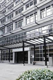 Der Eingang der Berufsschule Landenberg. (Bild: pd)