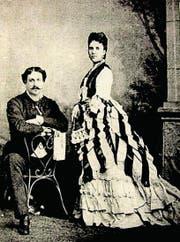 Eleonora Cenci mit Ehemann Virginio Bolognetti, Principe die Vicovaro, kurz nach 1870 (Bild: Schriftenreihe «Innerschweizer Schatztruhe»)
