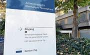 Der Schulpsychologische Dienst des Kantons im ehemaligen Personalhaus des alten Kantonsspitals. (Bild: Werner Schelbert (Zug, 18. Oktober 2017))