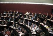 Der Luzerner Kantonsrat in die Debatte über das Konsolidierungsprogramm 17. (Bild: Manuela Jans-Koch (Luzern, 12. Dezember 2016))