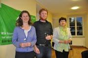 Sie kandidieren für den Nationalrat: (von links) Astrid Estermann, Andreas Lustenberger und Hanni Schriber-Neiger. (Bild: PD)