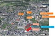 Übersicht über das Mattenhof Areal. (Bild: Grafik PD)