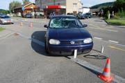 Das beschädigte Auto. (Bild: PD/Luzerner Polizei)