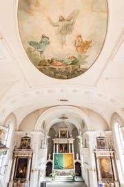 Die Arbeiten im Innern der Kirche beschränken sich auf eine Reinigung, eine «moderne Beleuchtung mit Überraschungseffekt» ... (Bild: Roger Grütter (25. März 2017))