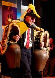 Die Allenwindner haben es am Samstagabend an die grosse Glocke gehängt: Fredy I. Iten ist der neue Faschallminister. (Bild: Christian H. Hildebrand)