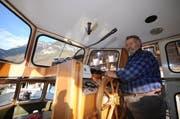 Der Flüeler Bootsbetreiber Ferdi wollte das Schiff kaufen. (Bild: Urs Hanhart/Neue UZ)